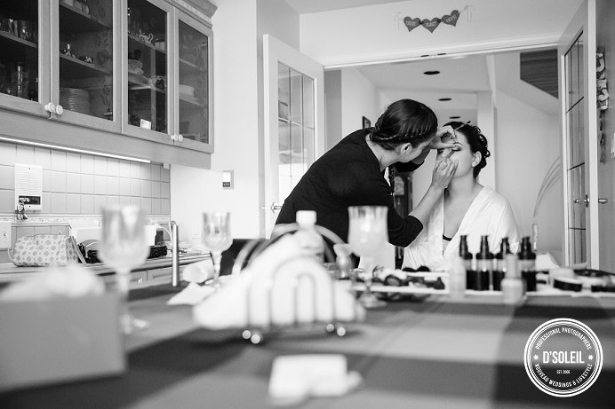 makeup artist working