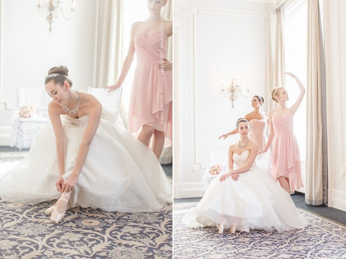 ballerina bridal wedding at the vancouver club