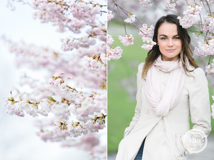 cherry blossom portrait session