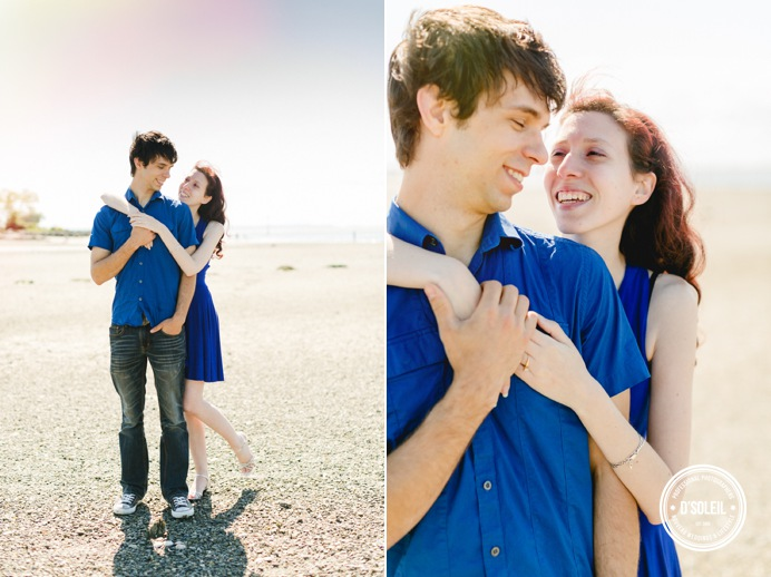 South surrey beach wedding engagement portrait
