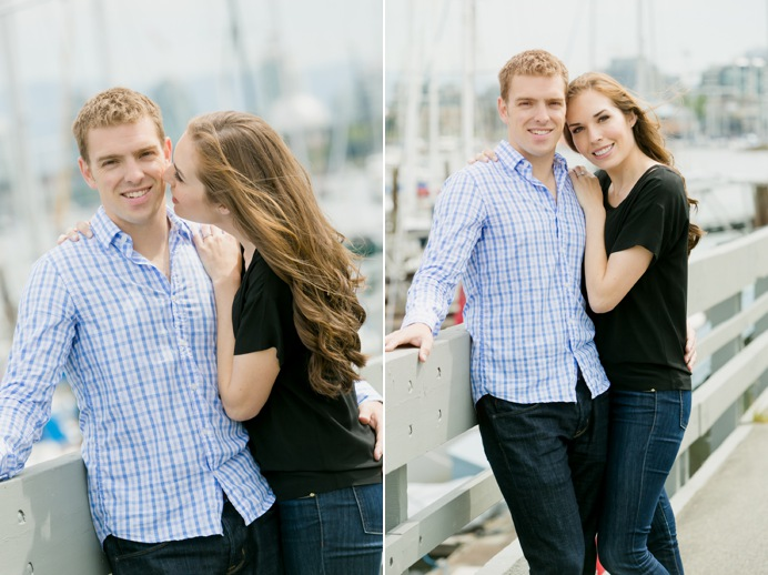 engagement photo by boats