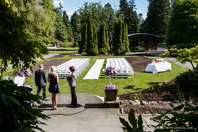 Stanley Park wedding outdoors