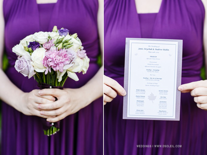 Purple violet bridesmaid dresses