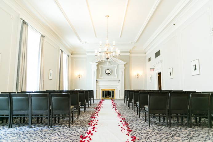 Georgian room Vancouver Club wedding setup decor