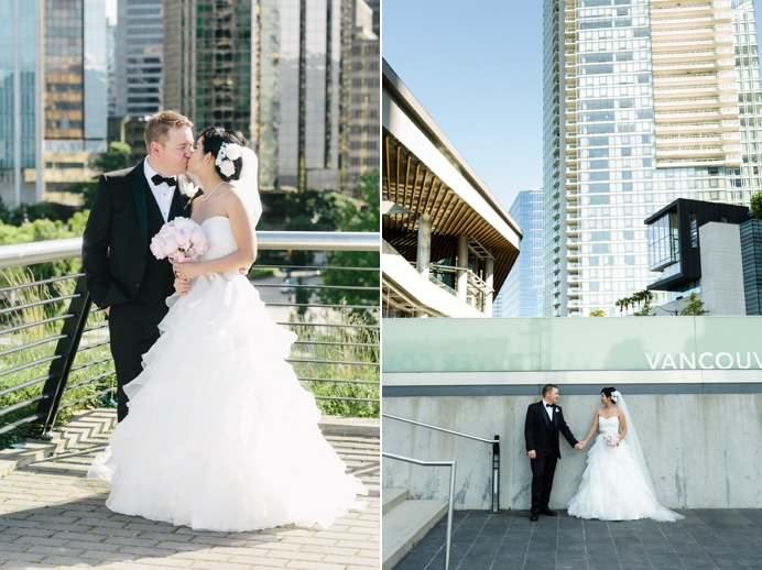 Wedding photos at Coal Harbour and Convention Centre