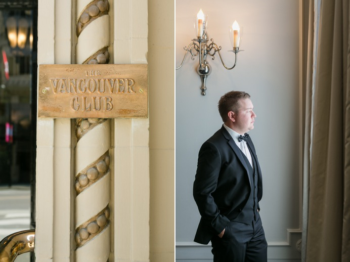 The Vancouver Club wedding