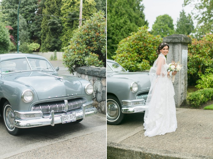 1940s Mercury vintage wedding car