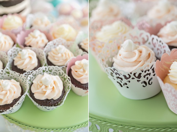 Wedding cup cakes for tea party