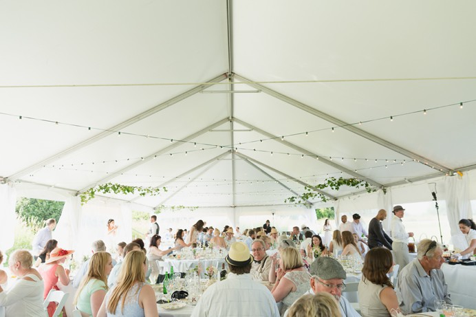 Tent for wedding outdoors