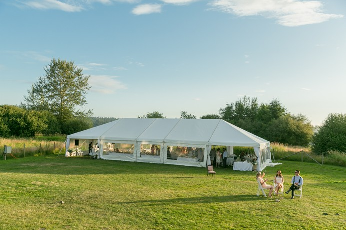 Tent at Cammidge House wedding