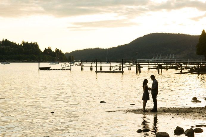 Port Moody sunset engagement
