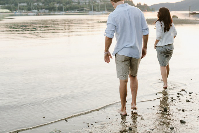 beach engagement session Vancouver Port Moody