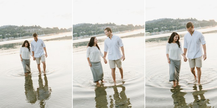 Water engagement session photos