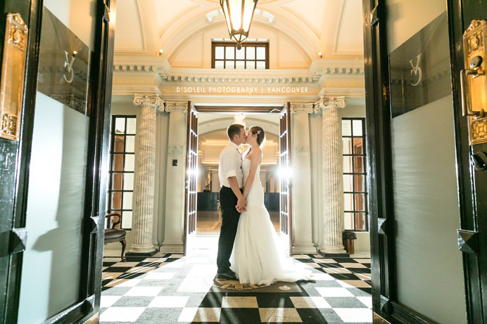 The Vancouver Club wedding photo in Foyer