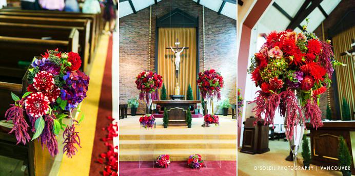 Wedding ceremony flowers Dushan Flowers