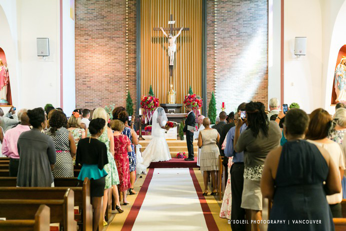 Catholic church ceremony St. Peters New Westminster