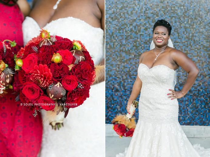 Bride at SFU campus