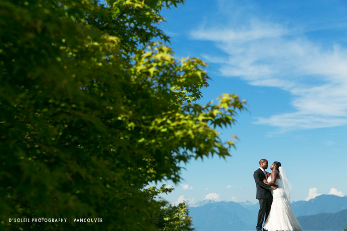 Vancouver mountains wedding photo