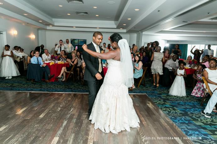 African Caribbean wedding dance