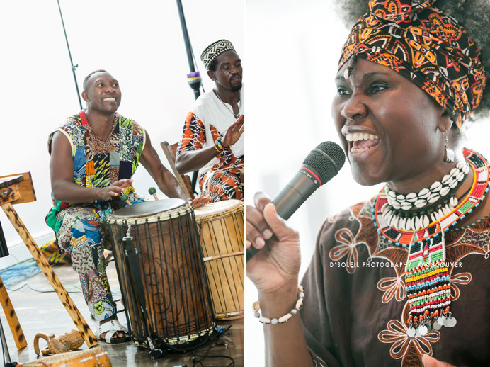 African dancers at wedding