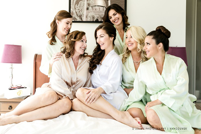 Photo of bridesmaids in robes