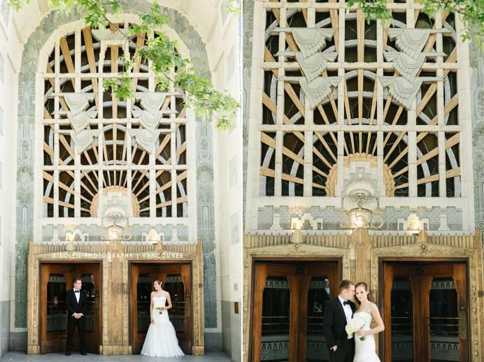 Classic Art Deco wedding photo