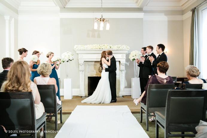 Wedding ceremony Vancouver Club