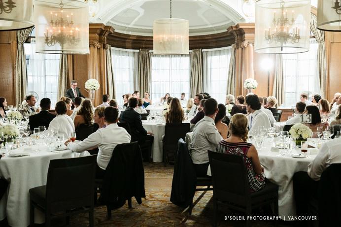 Speeches during wedding