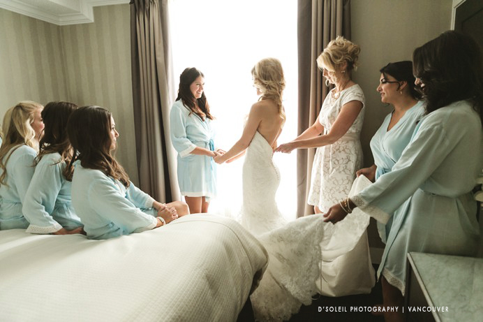 Bridal room at Sutton Place Hotel