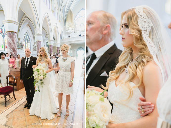 Wedding ceremony at Holy Rosary Cathedral