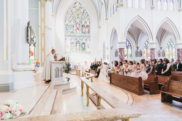 Beautiful wedding at Holy Rosary Cathedral