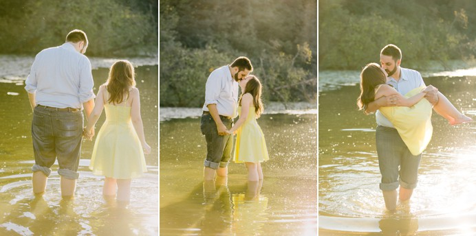 engagement photos at deer lake