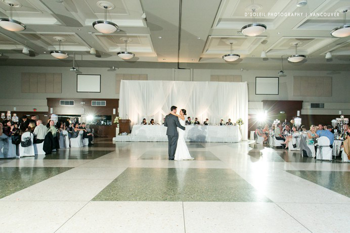 first dance at Italian Cultural Centre wedding
