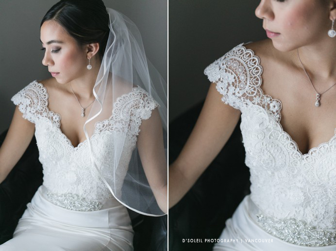 Bridal portraits lace wedding dress