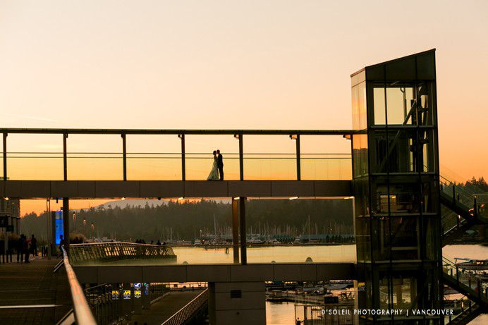Vancouver convention centre sunset wedding