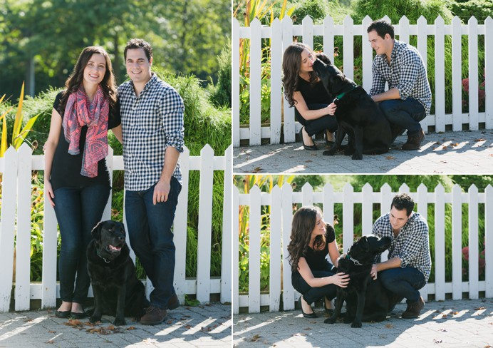 family with dog portraits