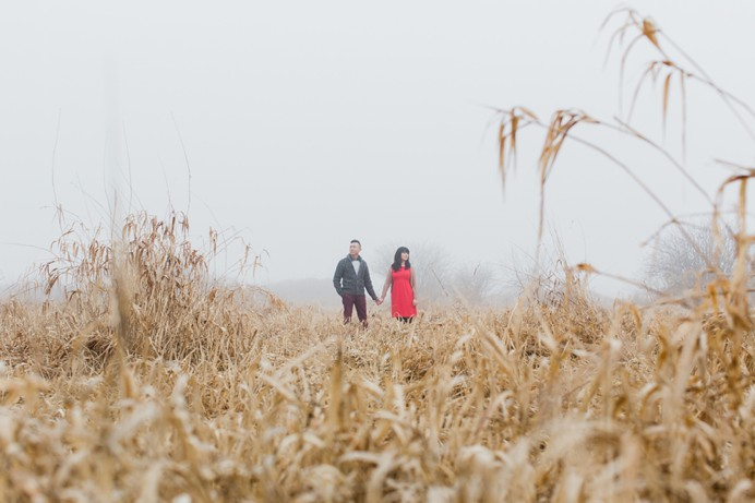 fog in the field nature engagement session