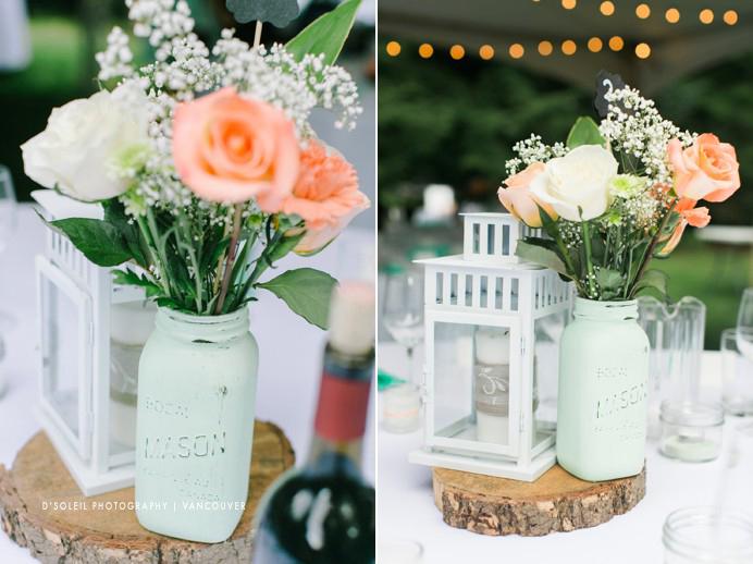 mason jars for wedding flowers