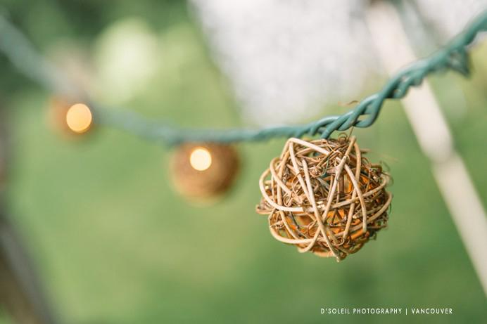 hanging lights for backyard wedding