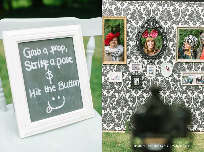 DIY photobooth photo wall