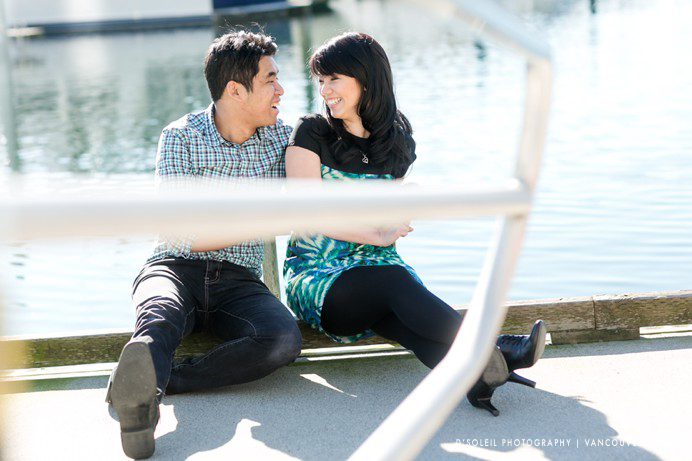 False Creek harbour engagement photos