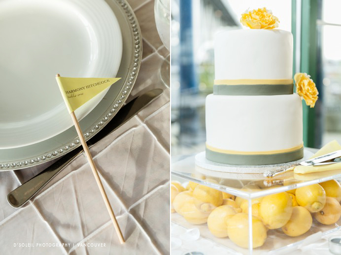 Yellow lemon wedding cake color