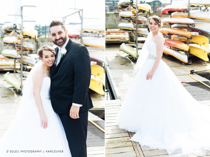 Granville island wedding portrait