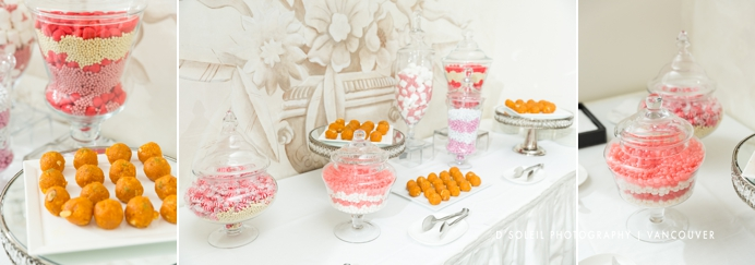 Wedding candy table at Hotel Georgia Vancouver