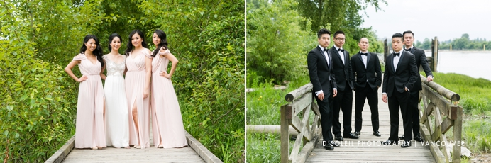 wedding party tuxedos and bridal dresses Vancouver