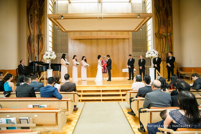 Vancouver Unitarian church wedding ceremony