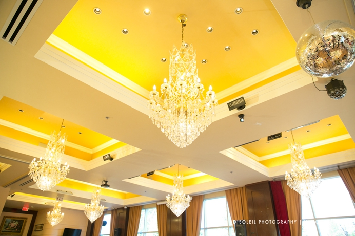 Shiang garden wedding reception decor ceiling