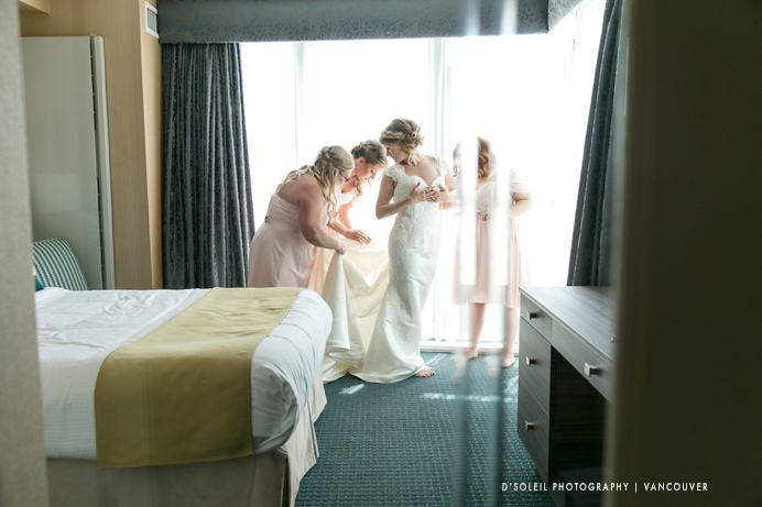 Bride getting ready at Executive Plaza Hotel & Conference Centre Coquitlam