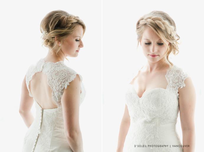 Vintage rustic bridal hair design