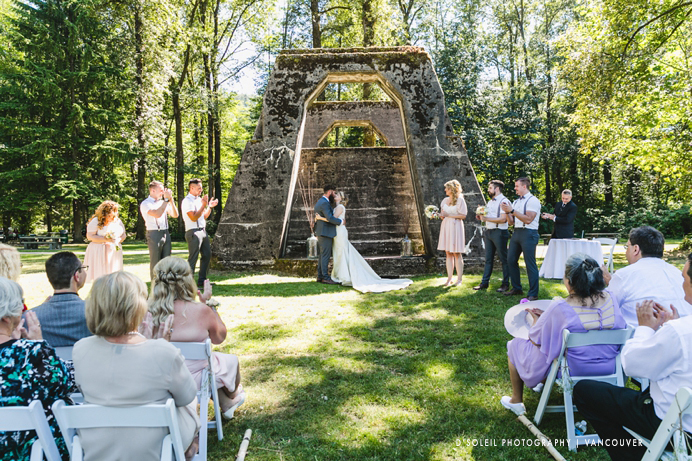 outdoor wedding ceremony at marine park